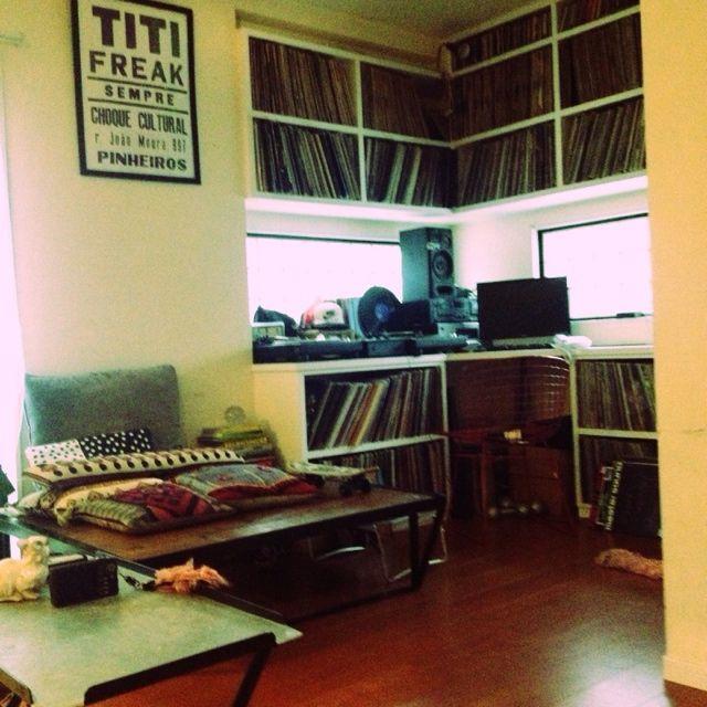 DJブース/レコード棚/レコード収納/DJ ブース/リビングのインテリア実例 - 2013-09-19 22:56:18 | RoomClip(ルームクリップ)