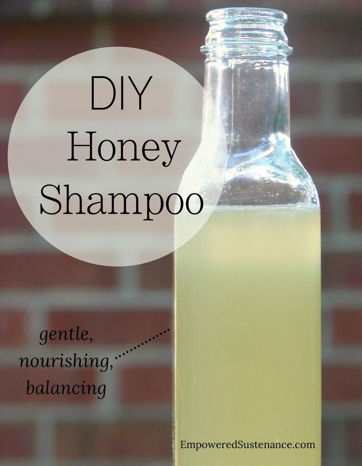 DIY honey shampoo. Get silky soft hair with this easy shampoo recipe!