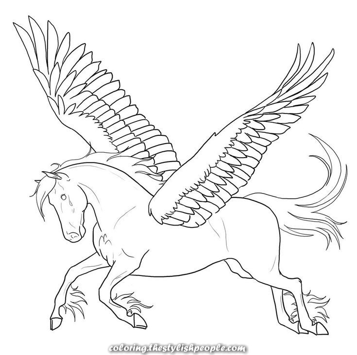 Fantastic Free Printable Pegasus Coloring Pages For Youths Horse Coloring Pages Unicorn Coloring Pages Coloring Pages