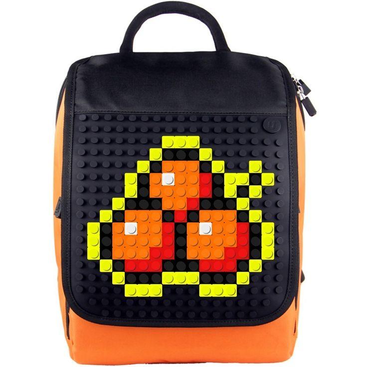 КРЕАТИВНА ПИКСЕЛ РАНИЦА 10 (ОРАНЖ И ЧЕРНО) -  Creative Pixel Backpack 10 (orange / black)