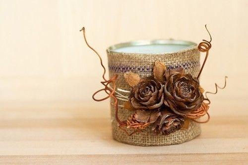 DIY dekorační svícen