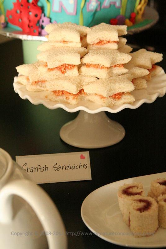 Ariel tea party food