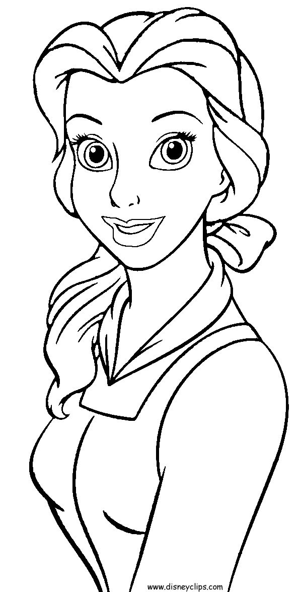 Belle disney colouring pages beast got present from belle for Beauty and the beast coloring pages disney