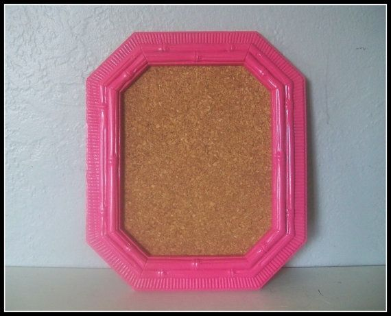 Upcycled Hot Pink Cork Board - Teen Bedroom Wall Decor - Kitchen Decor - Bamboo Style - Office Decor by PaintJunkies, $14.00