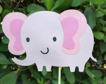 Centro de mesa elefante elefante bebé ducha central por CraftyCue