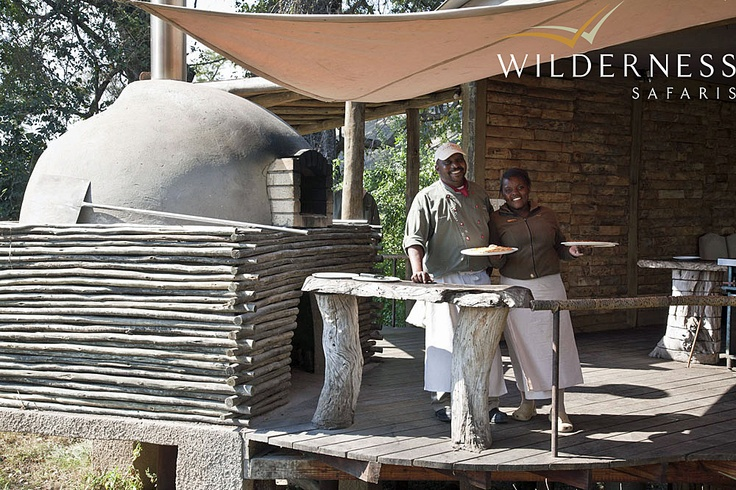 Toka Leya Camp - The novel pizza oven is a great hit with our younger visitors! A curio shop exhibits a fine selection of local crafts. #Safari #Africa #Zambia #WildernessSafaris