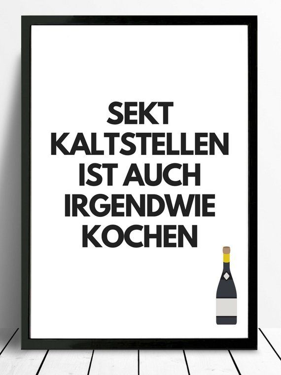 Poster-typo print sparkling wine, cooking
