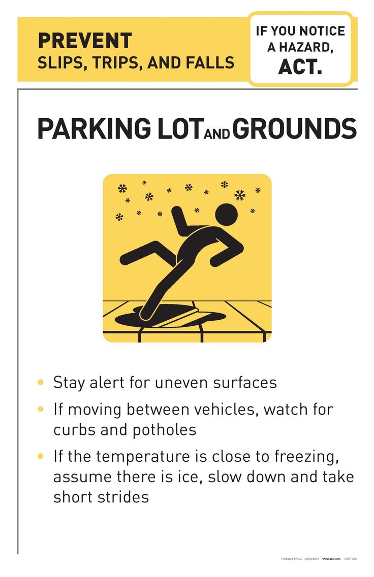 Prevent Slips, Trips and Falls! Safety Tips and Tidbits
