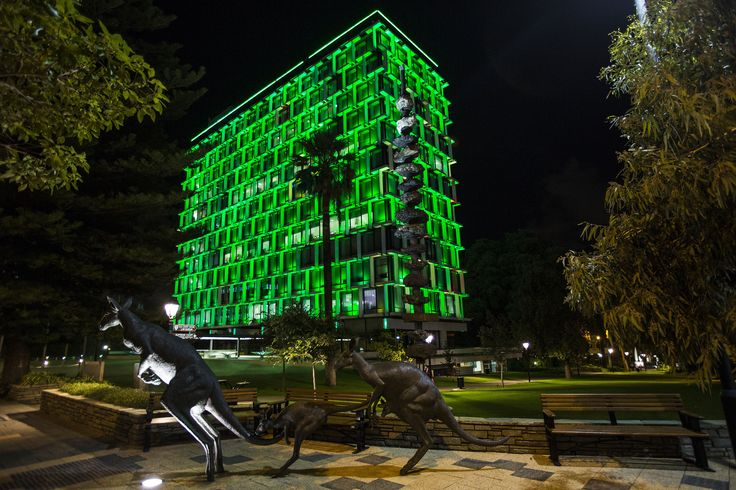 Council House in Perth, Australia, joins Tourism Ireland's Global Greening initiative, to celebrate the island of Ireland and St Patrick.