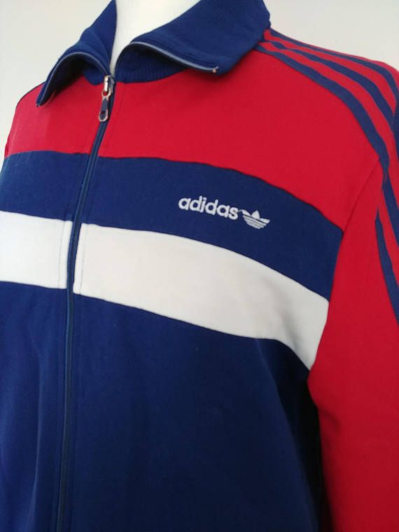 Vintage Mid 1980 S Adidas Europa Red White And Blue Color Blocked