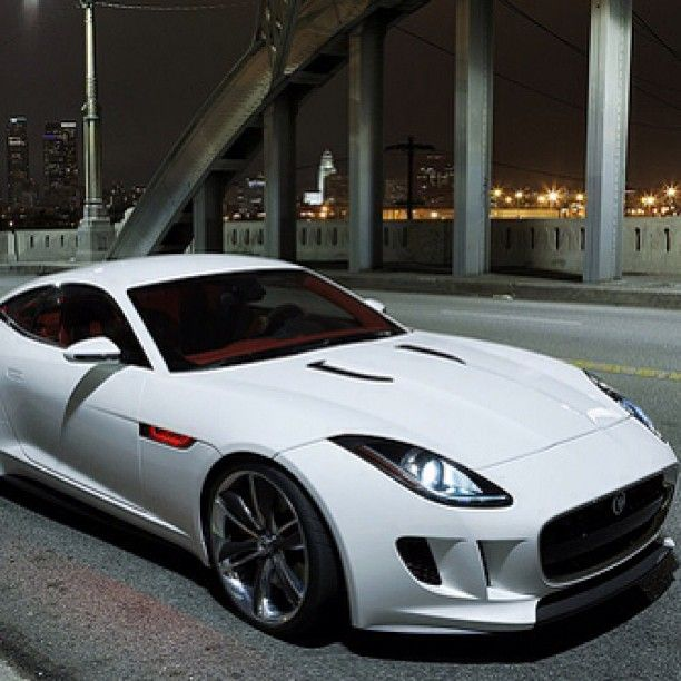 Jaguar F-Type Alone in The Darkness