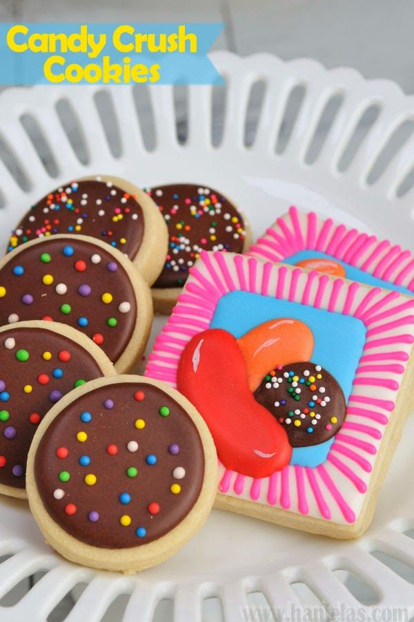 Haniela's: Candy Crush App Game Iced Decorated Cookies, Collaboration with Munchkin Munchies