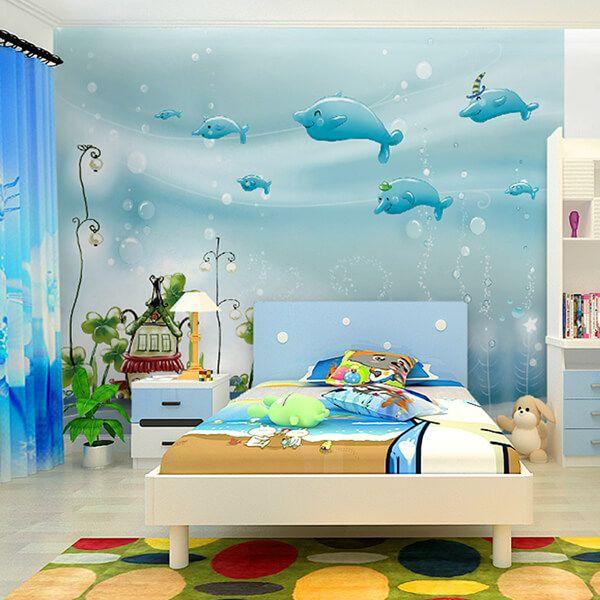 27 Cute Kid S Room Wallpaper Ideas Design Swan Kids Room Wallpaper Simple Kids Bedrooms Children Room Boy