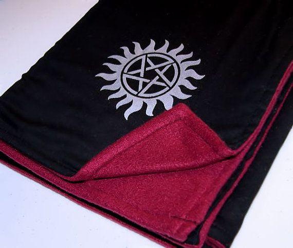 Supernatural Pentagram Starburst Burgundy Black Baby by MTspaces, $30.00