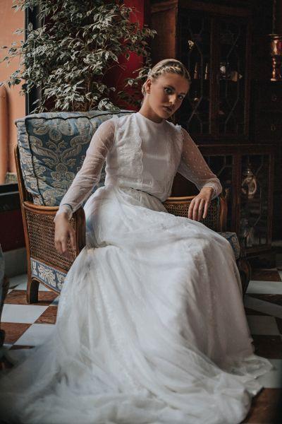 20 vestidos de novia con plumeti 2017 a los que no te podrás resistir. ¡Toma nota! Image: 17