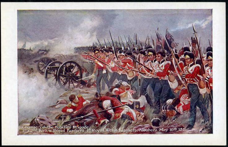 The Royal Welch Fusiliers at the Battle of Albuera (16 May 1811).