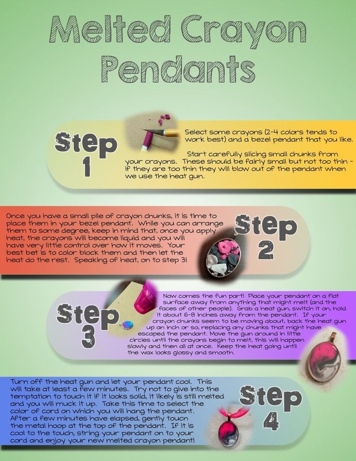 Melted Crayon Pendant Instructions