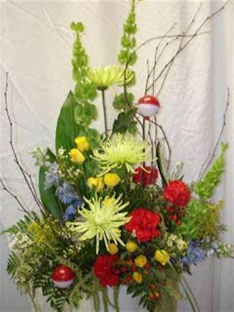 Image Result For Fishing Themed Funeral Arrangement Silk Flower Arrangements Altar Flowers