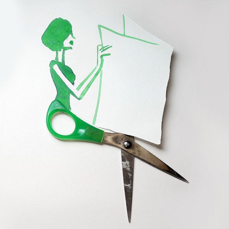 Christoph Niemann incorporates everyday items into clever sketches.