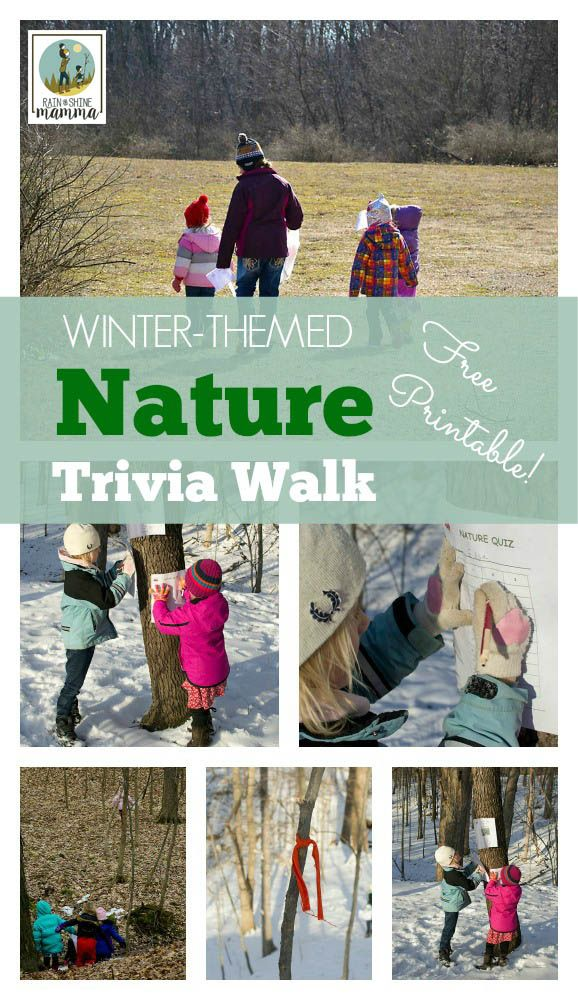 Winter-Themed Nature Trivia Walk from Rain or Shine Mamma