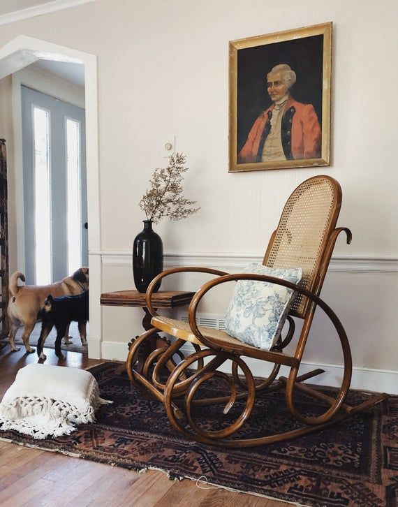 Bentwood Thonet Style Rocker Bentwood Rocking Chair Cane Rocker Cane Chair Thonet Styl Bentwood Rocking Chair Living Room Rocking Chairs Cane Rocking Chair