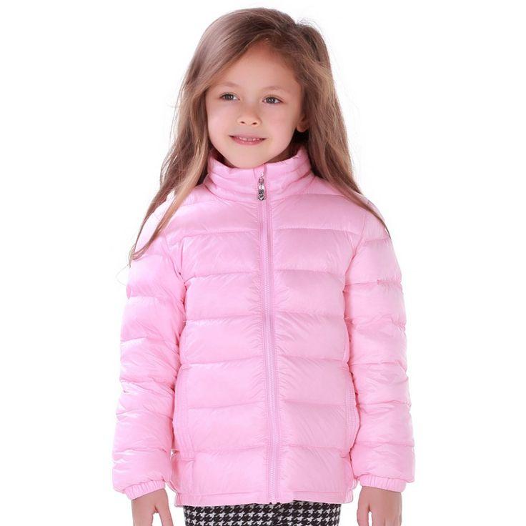 девушка зимой пуховик зимнее одежды малыша детей пальто длинный белый утка вниз пальто парки лоскутной картины розовый девочка пальто