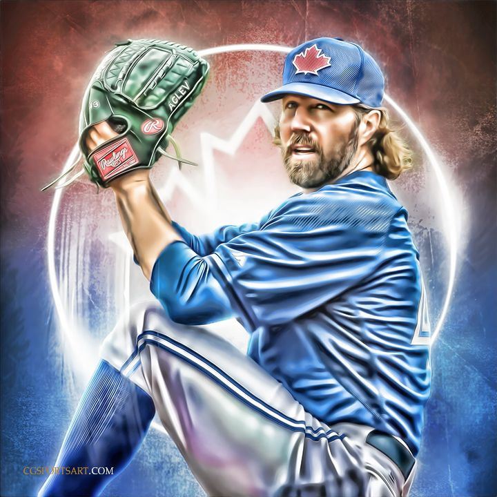 R.A. Dickey of the Toronto Blue Jays