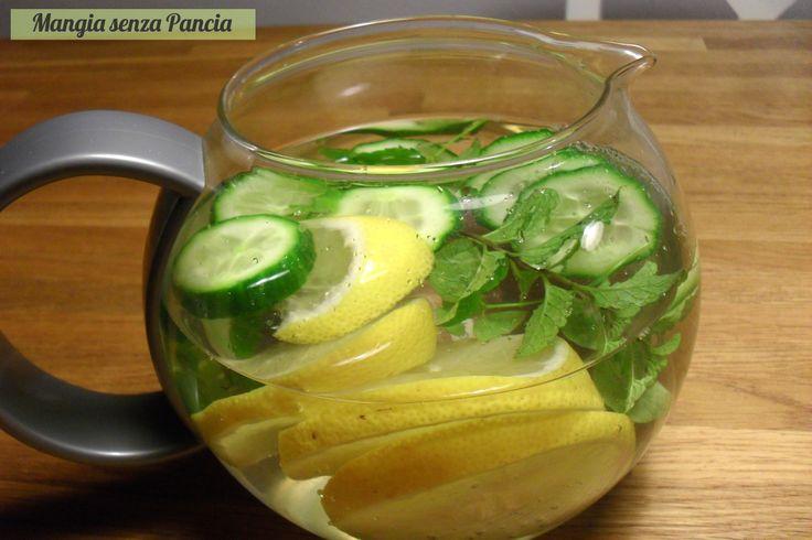 Bevanda depurativa limone cetriolo menta