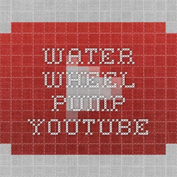 Water wheel pump - YouTube