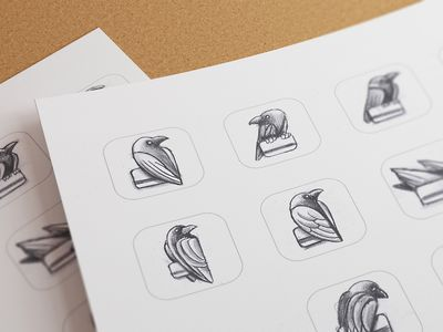 Sketching by ramotion - I love to see the logo execution progress like these sketches..