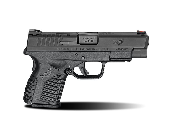 XD-S® 4.0″ Single Stack 9mm caliber #pistol in Black from Springfield Armory® #firearm #handgun