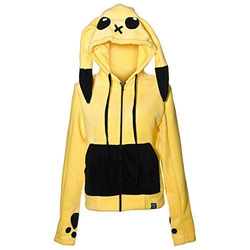 Cupcake Cult Striker Pokemon Pikachu Pull A Capuche Avec Oreilles Et Yeux (Jaune): Cet Adorable Pull A Capuche Style Polaire Est Tout…