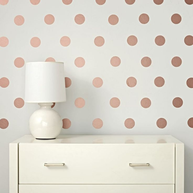 Rose Gold Lottie Dot Decals   The Land of Nod