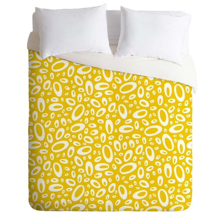 Heather Dutton Molecular Yellow Duvet Cover | DENY Designs Home Accessories