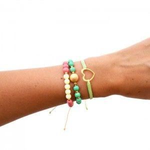 Pulsera Corazón Pepas  | Tienda online de accesorios www.dulceencanto.com #pulseras #accesorios #colombia
