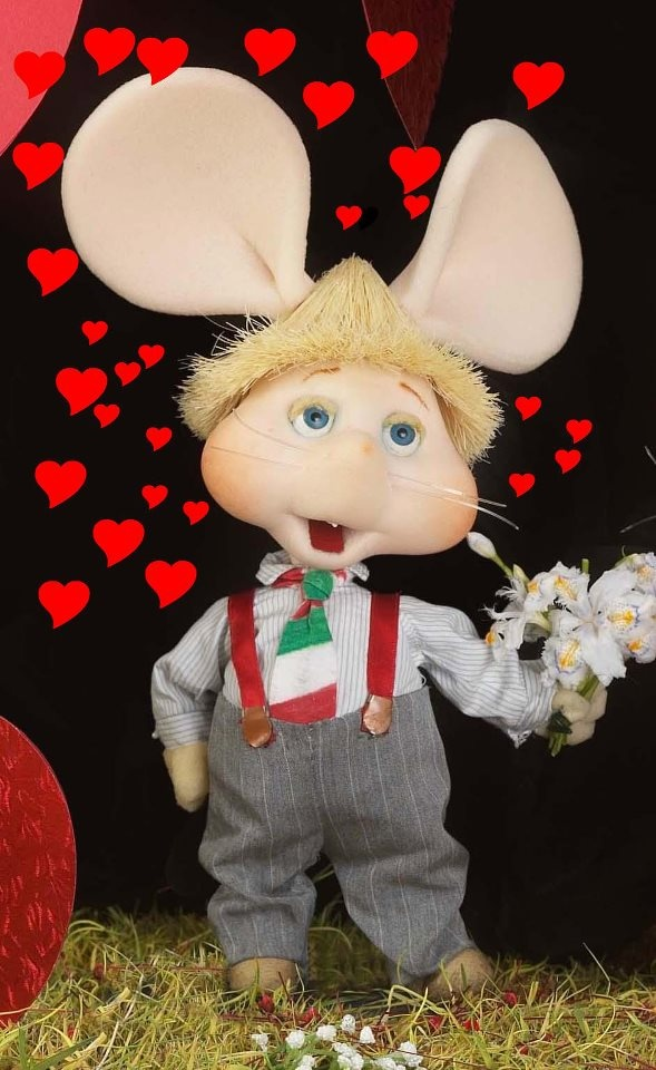 Topo Gigio. I had a teddy version-I don't remember the show but I must have watched it as I had the teddy!