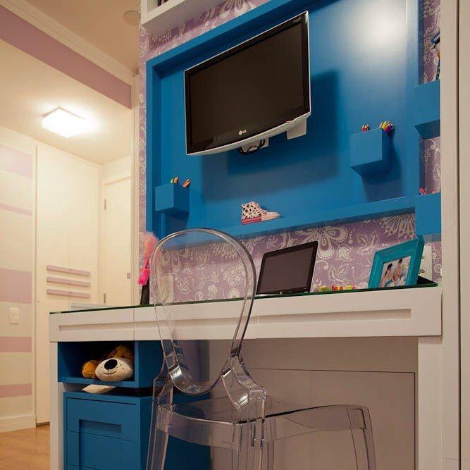 Quarto de  ‼️ Detalhe para o painel azul  #room #purple #girl #beautiful #menina #bedroom #arquitetura #decoração #decorando #instadecor #arquitetura #architecture #details #amamos #loveit #projetospacointerior #nossoprojeto #arquitetasemsaopaulo #moemaarquitetura #moema