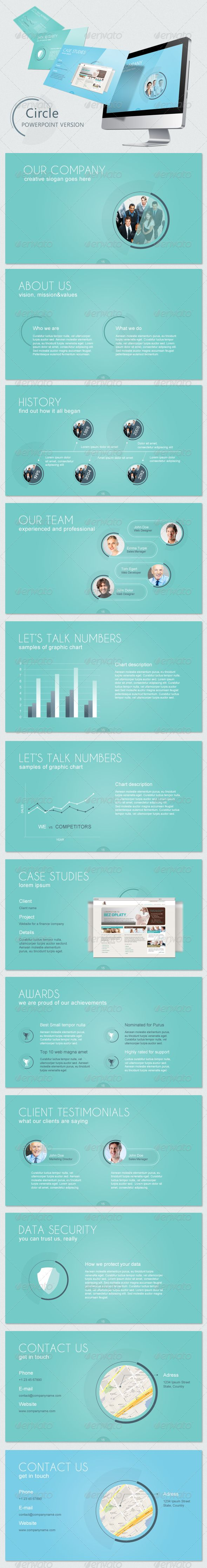 Circle Keynote Template  - GraphicRiver Item for Sale