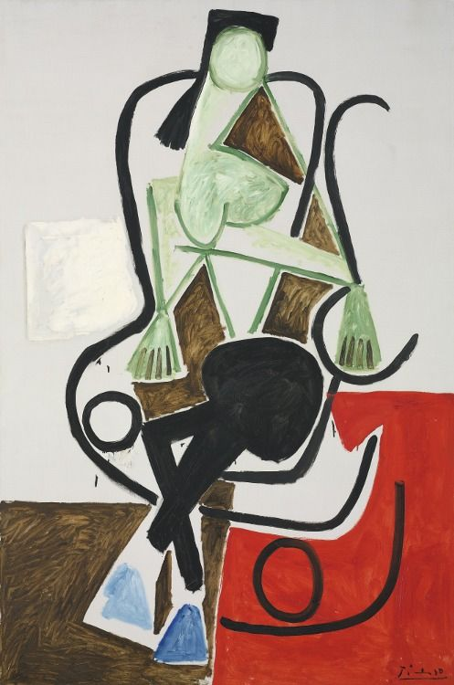 Pablo Picasso (Spanish, 1881-1973) - Woman in a Rocking Chair, 1956