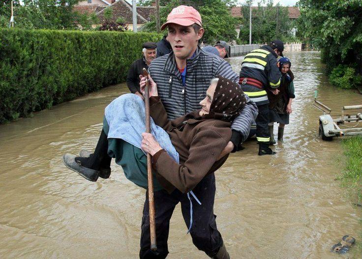 Flood in croatia, serbia and bosnia