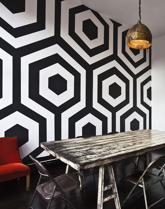 Wall Designs Black And White : Best graphic wall ideas on office