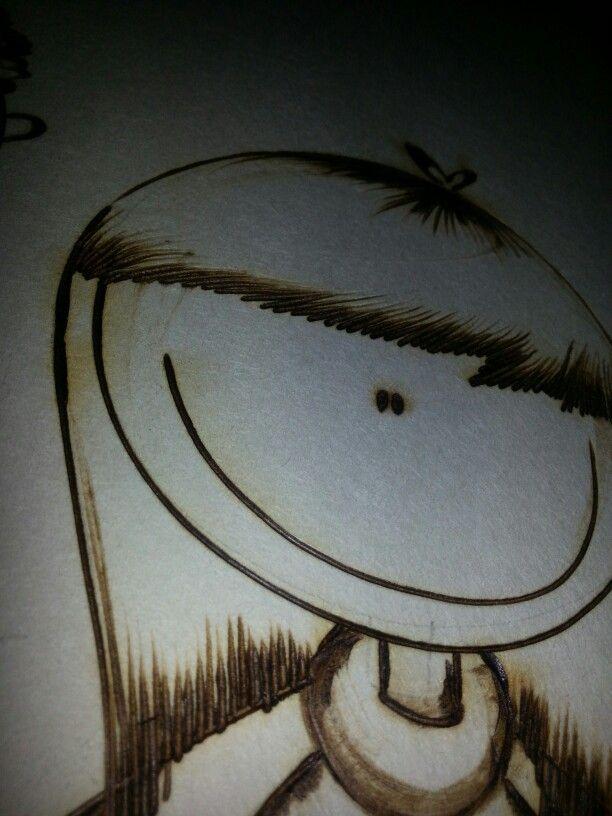 Dibujo en Pirograbado