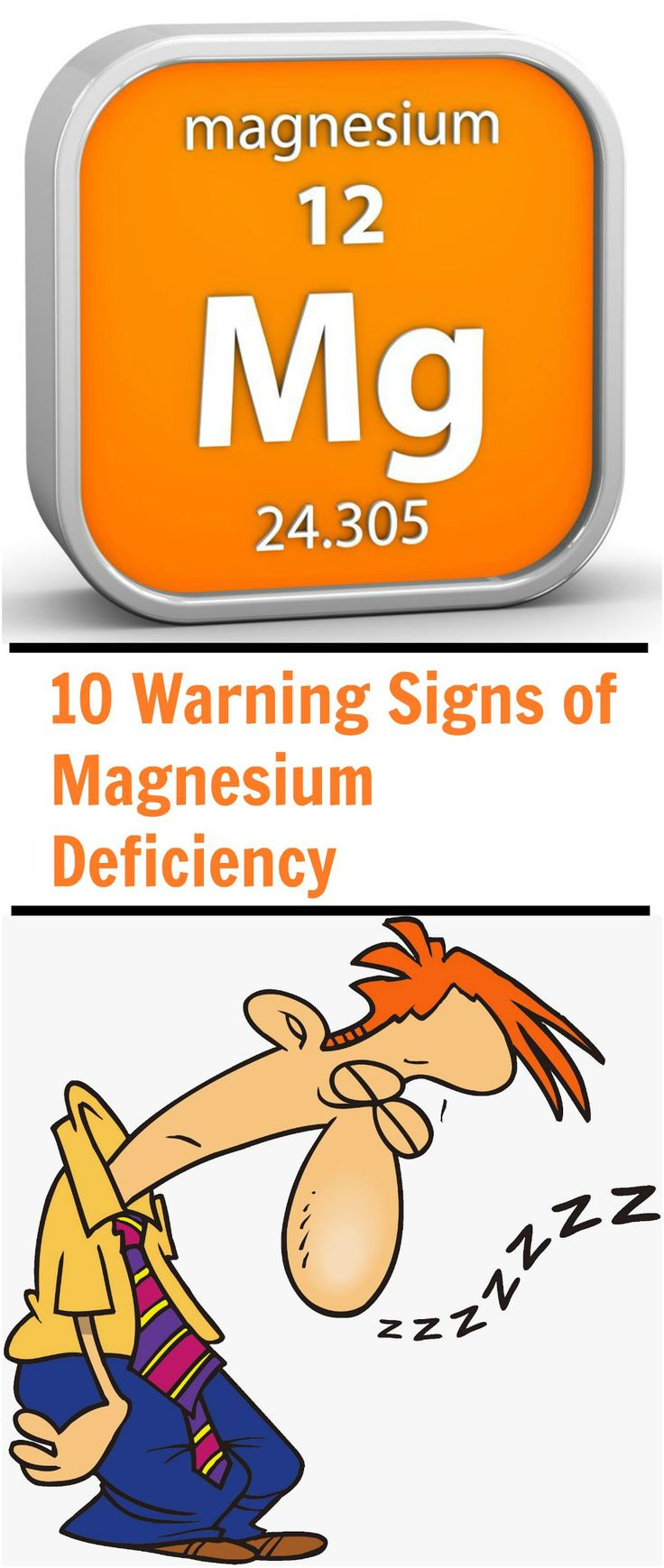 Magnesium deficiency is known in research circles as the silent epidemic of our times. Many of the signs of low magnesium are not unique to magnesium deficiency, making it difficult to diagnose with 100% accuracy. Thus quite often low magnesium levels go completely unrecognized and untreated. Here are 10 Warning Signs of Magnesium Deficiency - Selfcarers