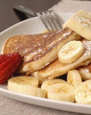Proteinpfannkuchen mit Banane: www.gofeminin.de / …   – Frühstück // Brunch-Rezepte