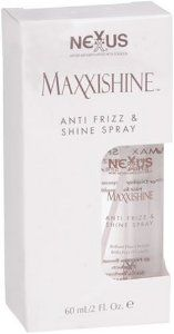 Nexxus Maxxishine Anti Frizz & Shine Spray, 2-Ounce Packages (Pack of 2) by Nexxus. Save 51 Off!. $12.00. Used By Professionals. Salon-Healthy Hair At Home. NEXXUS SALON FORMULA. Nexxus Maxxishine Anti Frizz & Shine Spray , 2 fl oz (60 ml)