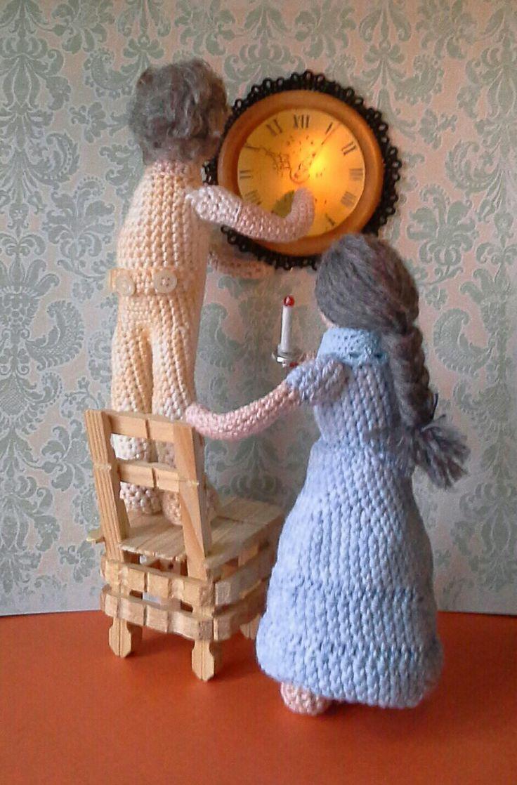Winter tijd klok een uur terug handmade by annie swart