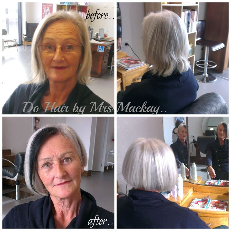 Stylish mother inlaw.. Black streak infront, with side shave Xx
