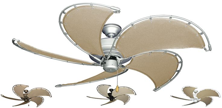 Nautical and Tropical Ceiling Fans | nautical ceiling fan khaki canvas blades previous in all ceiling fans ...