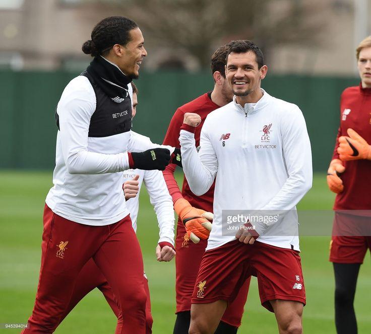 Dejan Lovren And Virgil Van Dijk Of Liverpool During A
