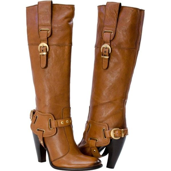 PAOLO IANTORNO Tabitha Hi-Fashion Motorcycle Boots Brown ($170) ❤ liked on Polyvore featuring shoes, boots, ankle booties, heels, brown, brown boots, heel boots, biker boots, brown heel booties and stacked heel booties